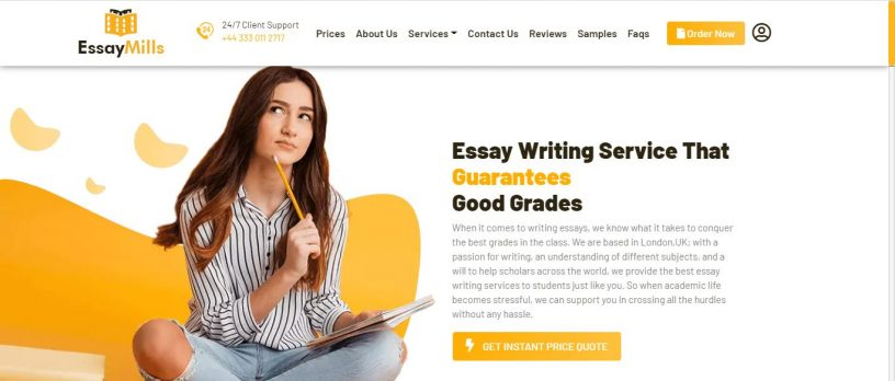 home page of essay mills